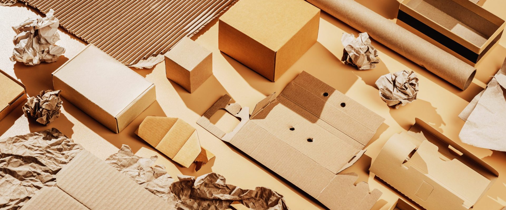 Used cardboard and paper for recycling, secondary raw materials